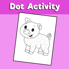 Dot Activity Animals - Pig