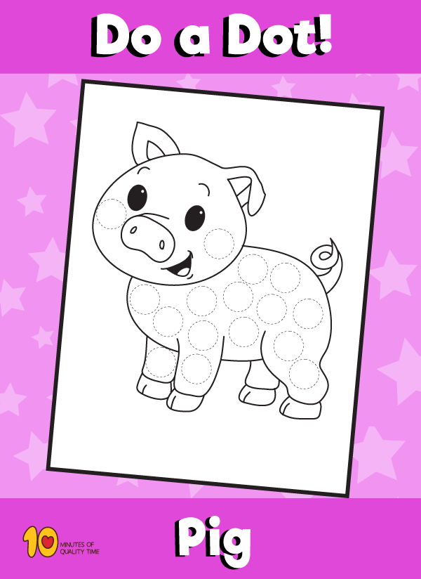 Dot Activity Animals - Pig