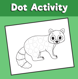 Dot Activity Animals - Raccoon