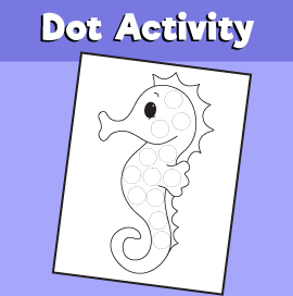 Dot Activity Animals -Seahorse