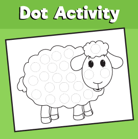 Dot Activity Animals - Sheep