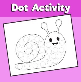 Do a dot Animals - Snail