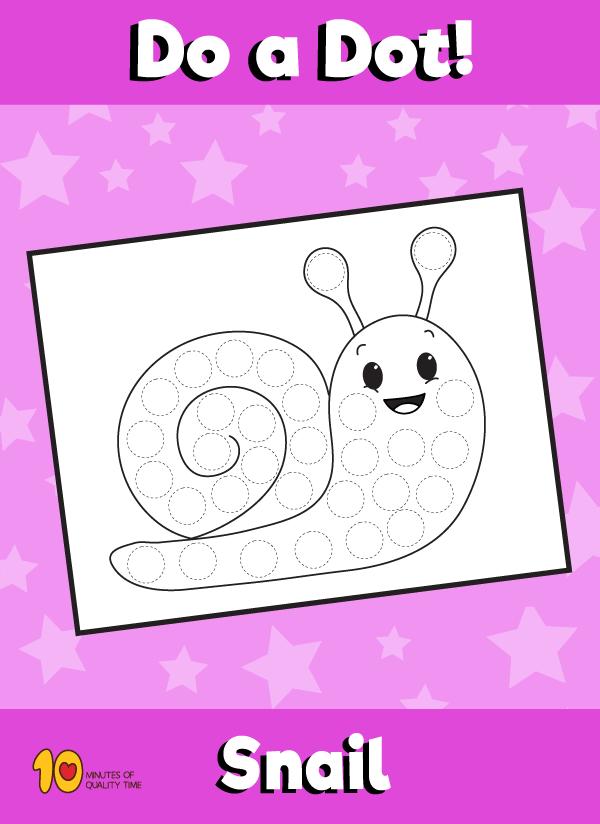 Dot Activity Animals - Snail
