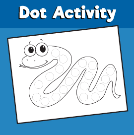 Dot Activity Animals - Snake