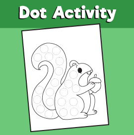 Dot Activity Animals - Squirrel