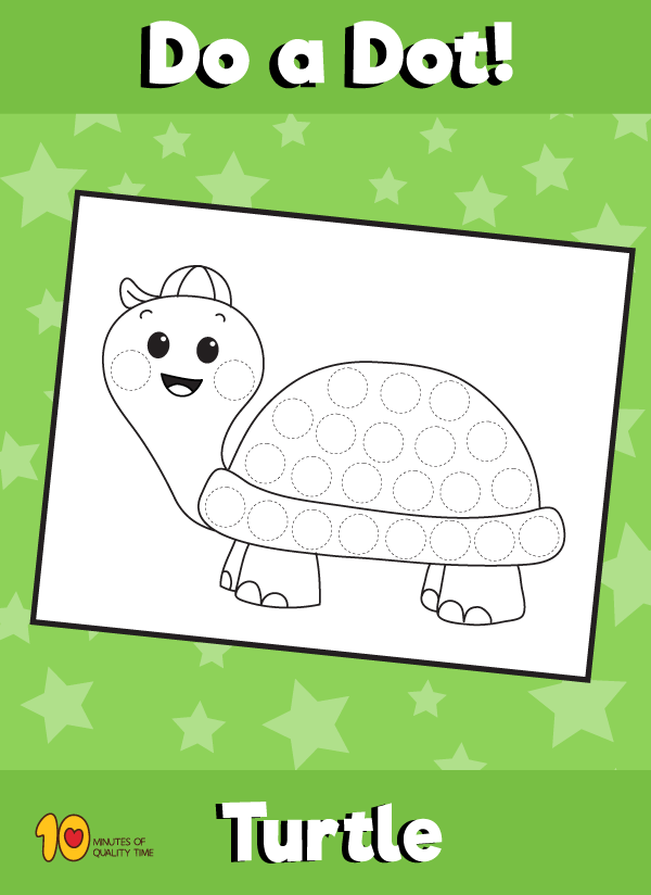 Dot Activity Animals - Turtle