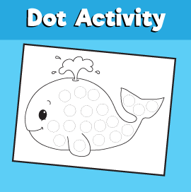 Dot Activity Animals - Whale