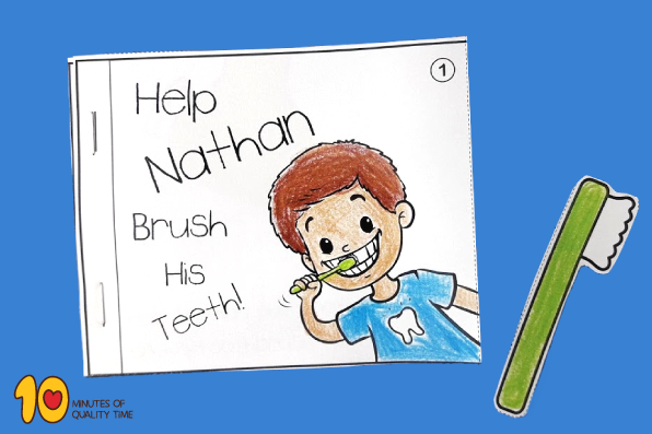 Help Nathan Brush His Teeth - Little Book