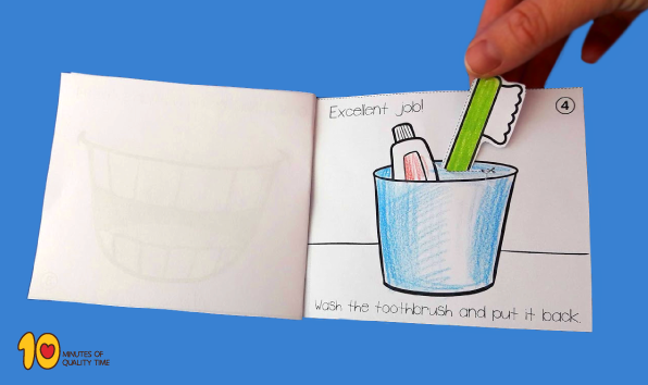 brushing teeth printable book