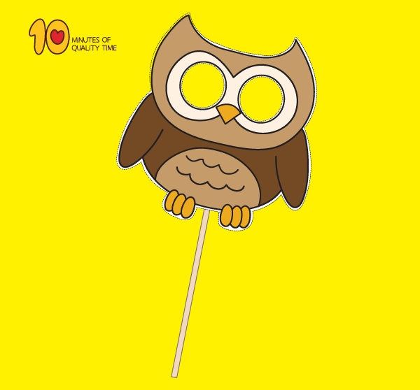 Owl Paper Mask Template 10 Minutes Of Quality Time