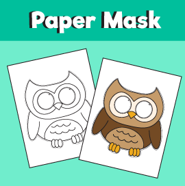 Owl Paper Mask Template