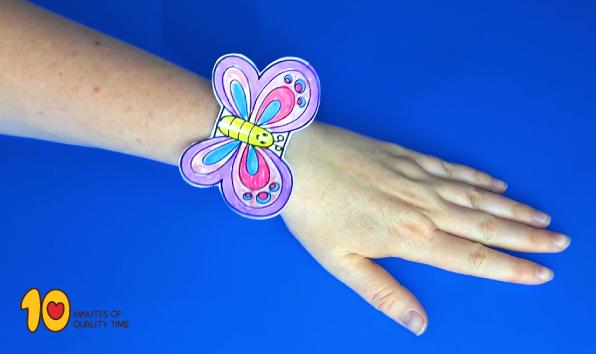 Printable Butterfly Bracelet