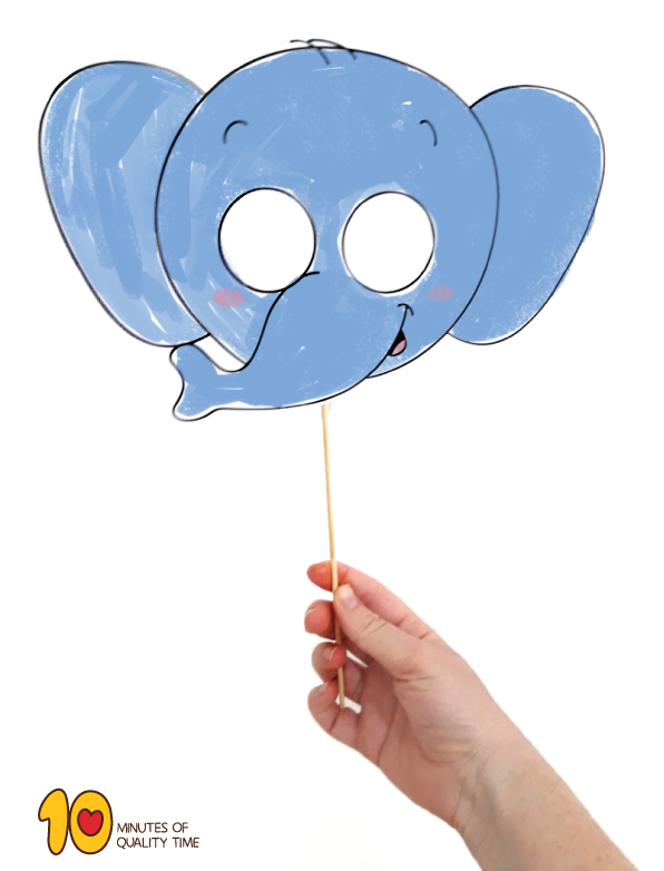 photo about Printable Elephant named Printable Elephant Mask 10 Minutes of High-quality Season