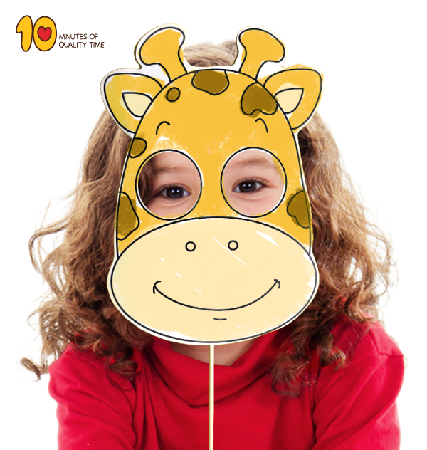 Printable Giraffe Mask 10 Minutes of Quality Time