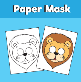 Printable Lion Mask