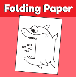 Surprise Folding Paper Shark 10 Minutes Of Quality Time
