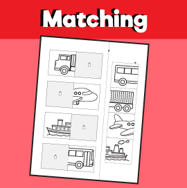 Transportation Matching Worksheet