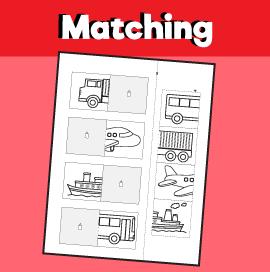 Transportation Matching Worksheet