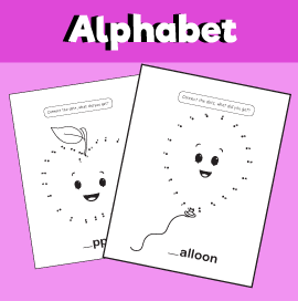 Alphabet Dot to Dot Worksheets