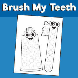 Brushing Teeth Printable Dot Activity