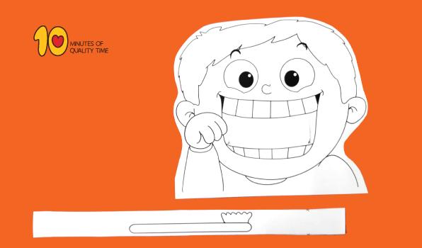 Child Brushing Teeth Printable Craft