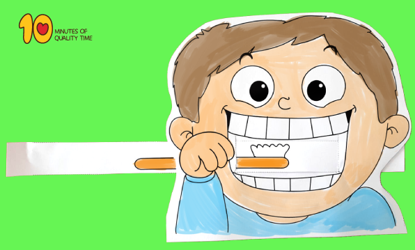 Child Brushing Teeth Printable