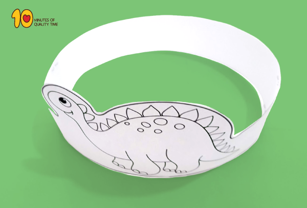 Dinosaur Paper Crown Printable
