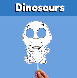 Dinosaur Paper Mask Printable Template