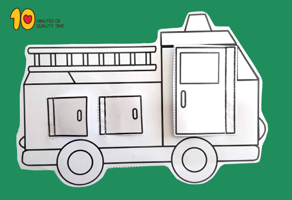 Fire Truck With Opening Doors Printable