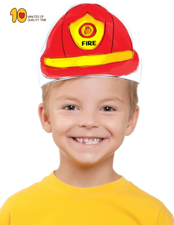 Fireman Hat Template