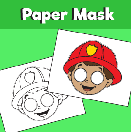 Fireman Mask Template – 10 Minutes of Quality Time