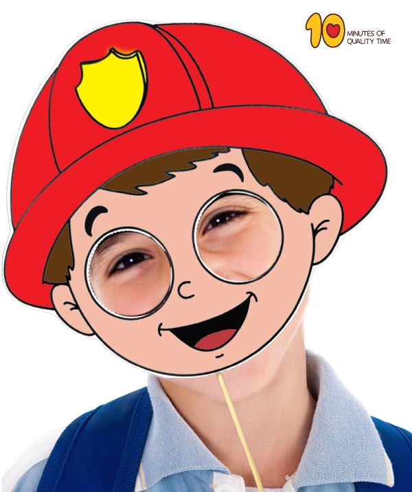 Fireman Mask Printable