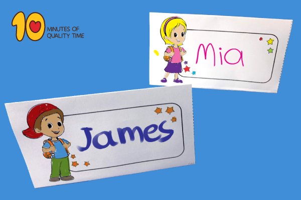 Back to School Name Tags Template
