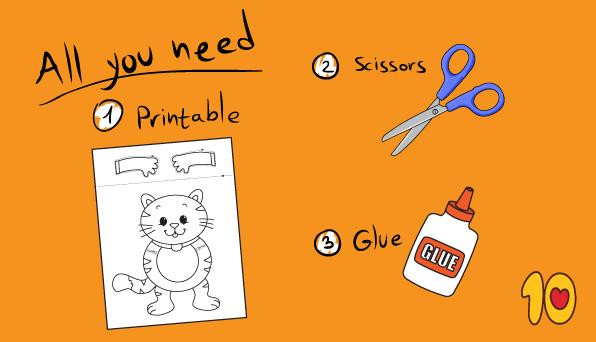Peekaboo Cat Printable Craft