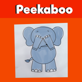 Peekaboo Elephant Printable Craft