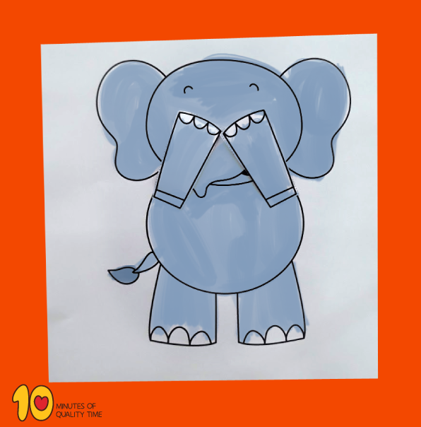 Peekaboo Elephant Printable Craft 10 Minutes Of Quality Time