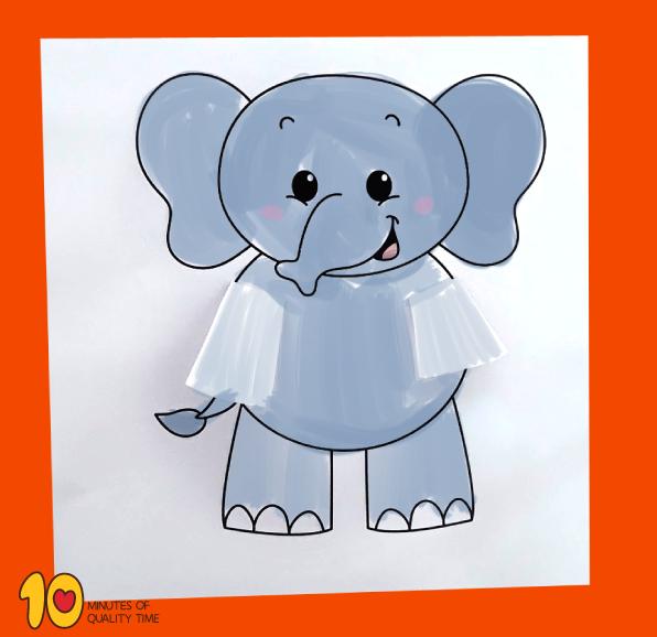 Peekaboo Elephant Printable Craft