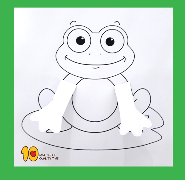 Peekaboo Frog Printable Craft
