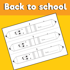 Pencil Bookmark Template