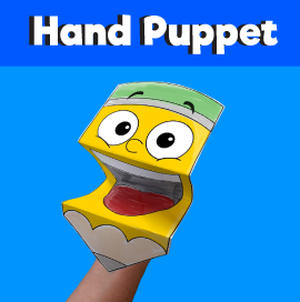 Pencil Paper Hand Puppet Template