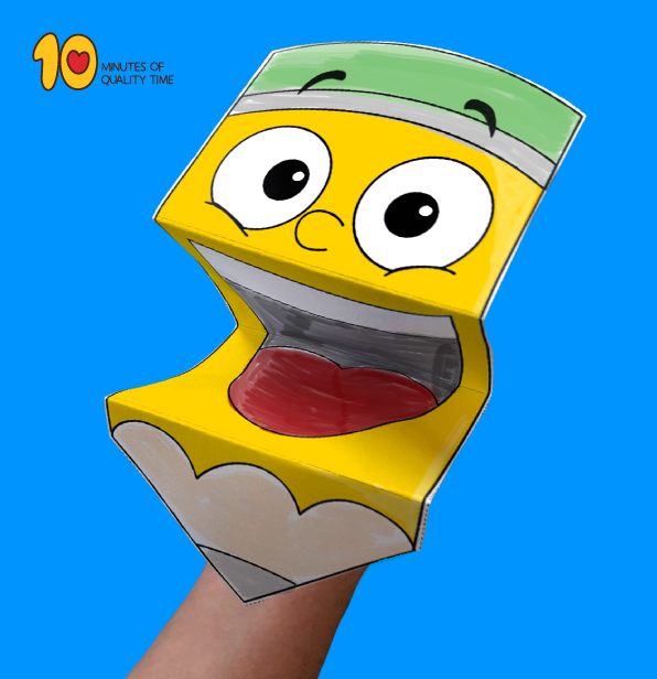 Pencil Paper Hand Puppet Template