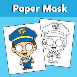 policeman mask template
