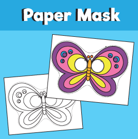 Butterfly Mask Template