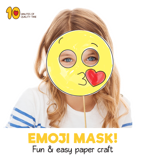 image about Emoji Template Printable identified as Kiss Emoji Printable Mask Template 10 Minutes of Excellent Period