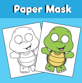 Printable Turtle Mask – 10 Minutes of Quality Time