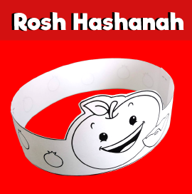 Rosh Hashanah Craft - Apple and Honey Paper Crown