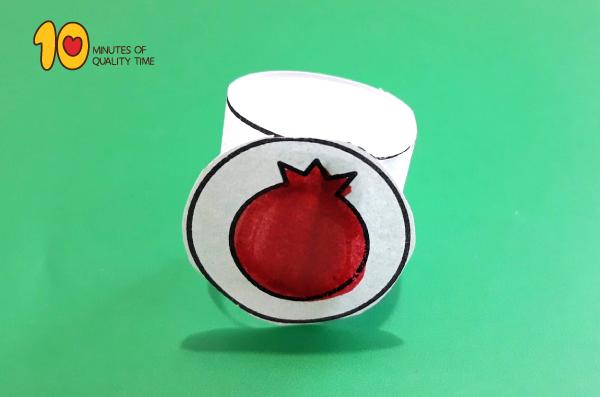 Rosh Hashanah Craft Pomegranate
