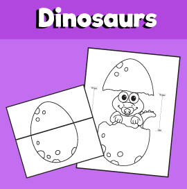 Surprise Hatching Dinosaur Egg Printable