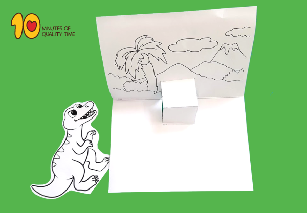 T-Rex Pop Up printable Template