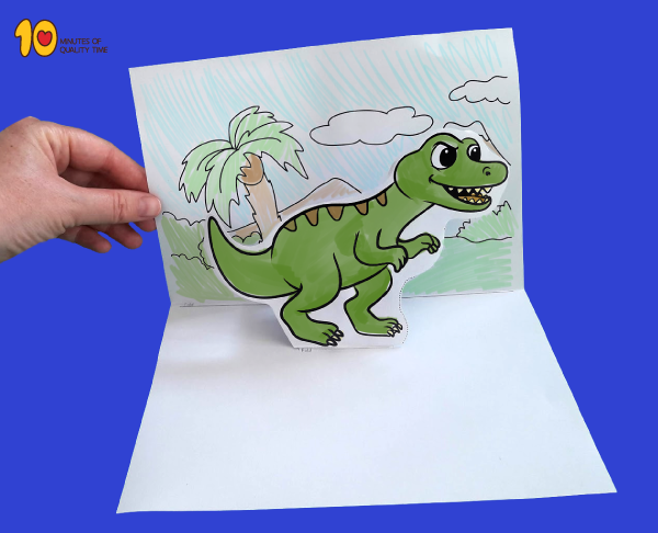 T-Rex Pop Up Template